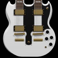 guitar gibson double 3d c4d