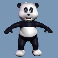 panda bear cartoon Kid