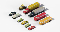 3d model vehicles car bus