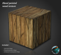 Hand painted wood planks texture
