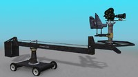 hollywood camera crane 3d max