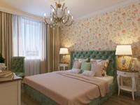 3dsmax bedroom interior bed