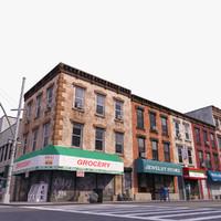 3d model city block b street