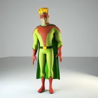 3d superhero octane
