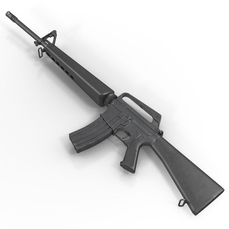 3d model of Assault Rifle M16 01.jpg