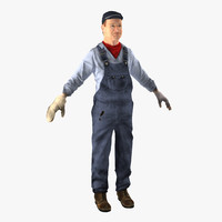 3d model locomotive engineer