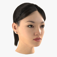Asian Woman Head
