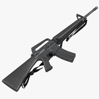 maya assault rifle m16 5