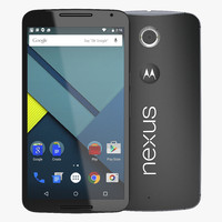 google nexus 6 black 3d max