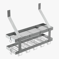 3d model kitchen shelf 3