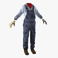 3d model of worker clothes