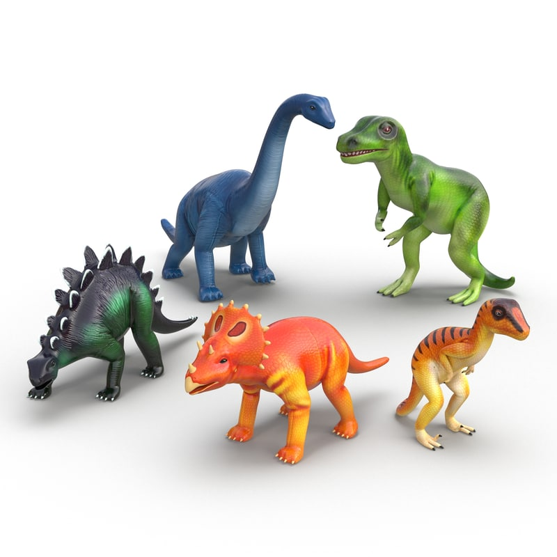 Toy Dinosaurs Collection 3d models 01.jpg