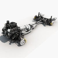 chassis engine 3d model