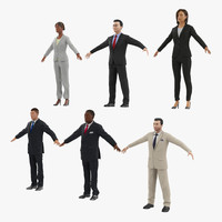 business people 3d model