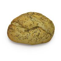 3d model italian bread roll
