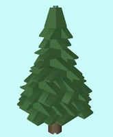LEGO Christmas Conifer Tree (Low Poly)