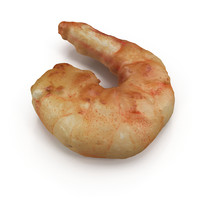 3d cooked prawn