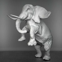 elephant sculpture 3d 3ds