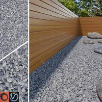 3d model grey gravel