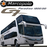 3d marcopolo bus model