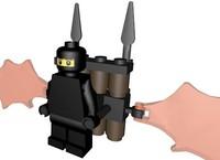 3d model lego ninja glider figure