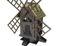 c4d lego medieval windmill wind