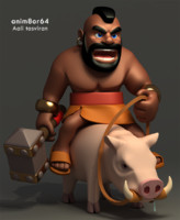 3d clash clans model