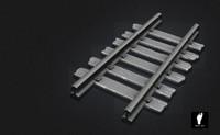 3d sculpted railroad track model