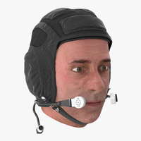 3d max pilot head rigged