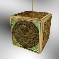 3d model chinese dragon lantern