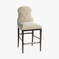 century page tufted bar stool 3d model