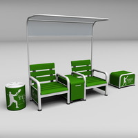 3ds tennis court bench chair