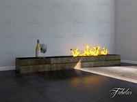 fireplace environment 3d model