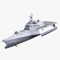 lcs-2 uss independence ship 3d max