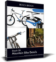 3d model mountain bike details