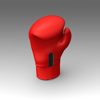 3d boxing gloves model