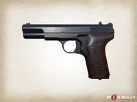 tt-33 pistol aaa assets fbx