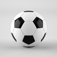 3d football soccer ball