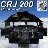 CRJ 200 Virtual cockpit