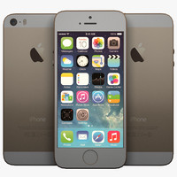 realistic apple iphone 5s 3d model