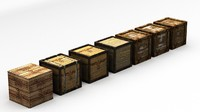3d model 7x german crates