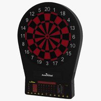 3d electronic dartboard model