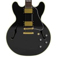 Guitar: Gibson ES Hollow Body: Black