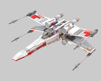 x-wing starfighter lego 3d 3ds