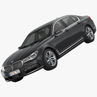 3d model bmw 7-series luxury