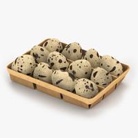 eggs quail box 3d max