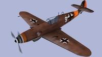 3d me-109 aircraft