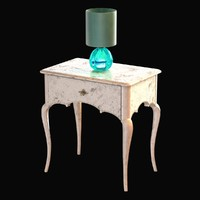 3d lamp table emerald bedside model