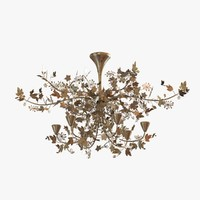 chandelier shadows ivy forest 3d max