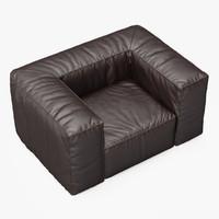 armchair scruffy chair 3d model